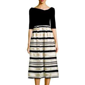 Black Halo Eve Hayley Midi Dress Size 2